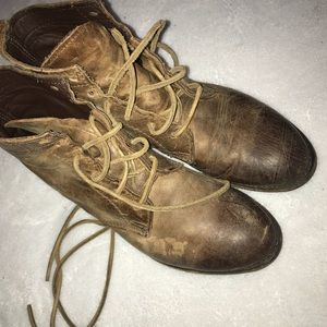 Distressed Vintage Leather Shoe Company Boots 8.5